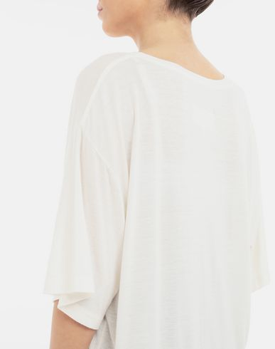 TOPS Inside out logo T-shirt Ivory