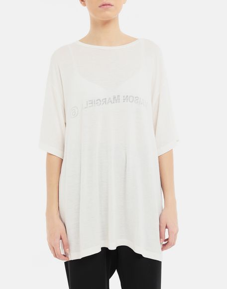 MM6 MAISON MARGIELA Inside out logo T-shirt Short sleeve t-shirt Woman r