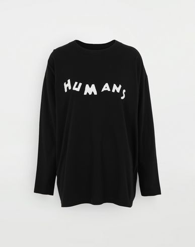 MM6 MAISON MARGIELA Felpa 'Humans' T-shirt maniche lunghe Donna f
