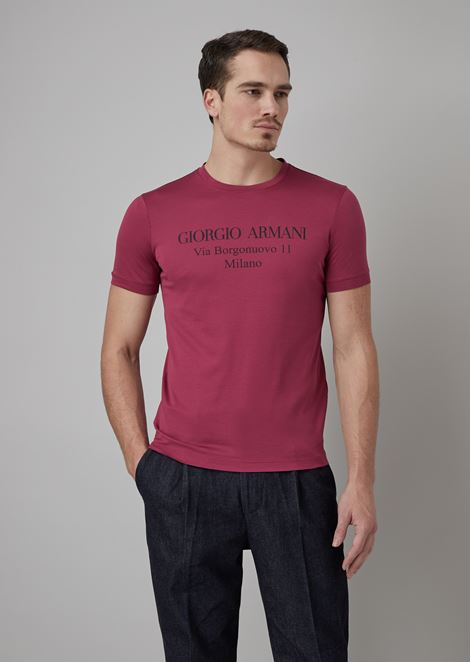 Borgonuovo T-shirt in viscose jersey