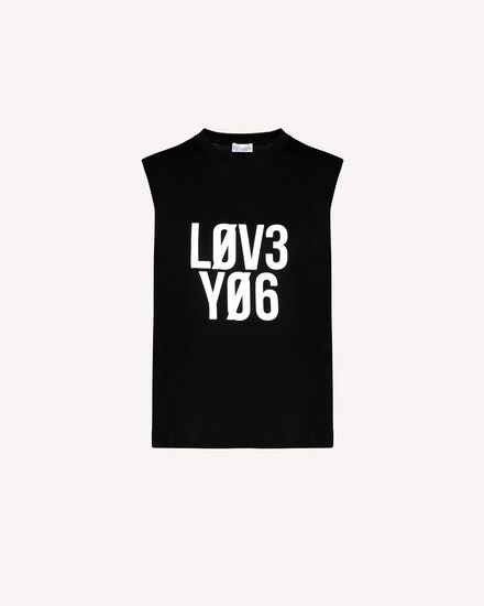 """Love You"" printed  Jersey top"