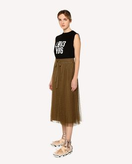 "REDValentino ""Love You"" printed  Jersey top"