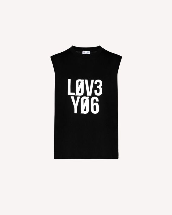 REDValentino Top en jersey avec imprimé « Love You »
