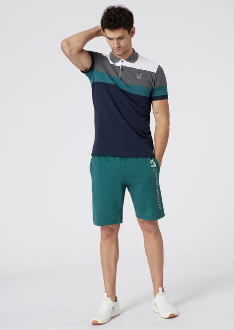 Mehrfarbiges Poloshirt aus Baumwoll-Piqué