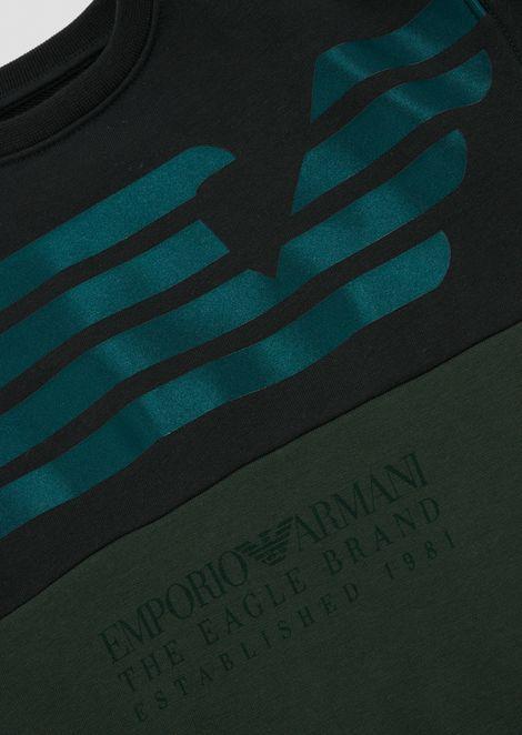 Crew neck sweatshirt with The Eagle Brand print