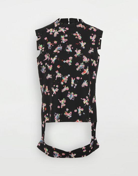 MAISON MARGIELA Kawaii-print décortiqué shirt Top [*** pickupInStoreShipping_info ***] f