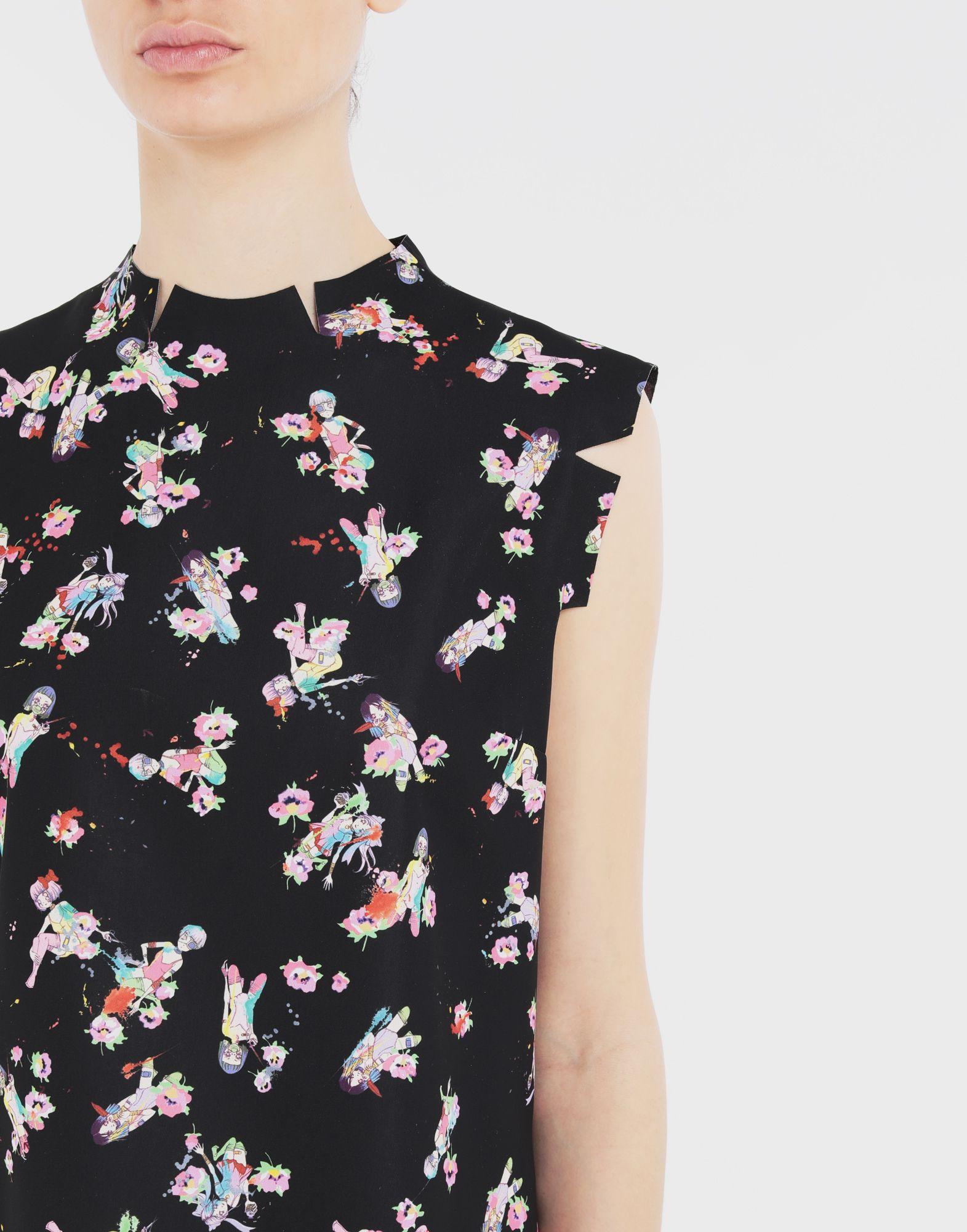MAISON MARGIELA Kawaii-print décortiqué shirt Top Woman a
