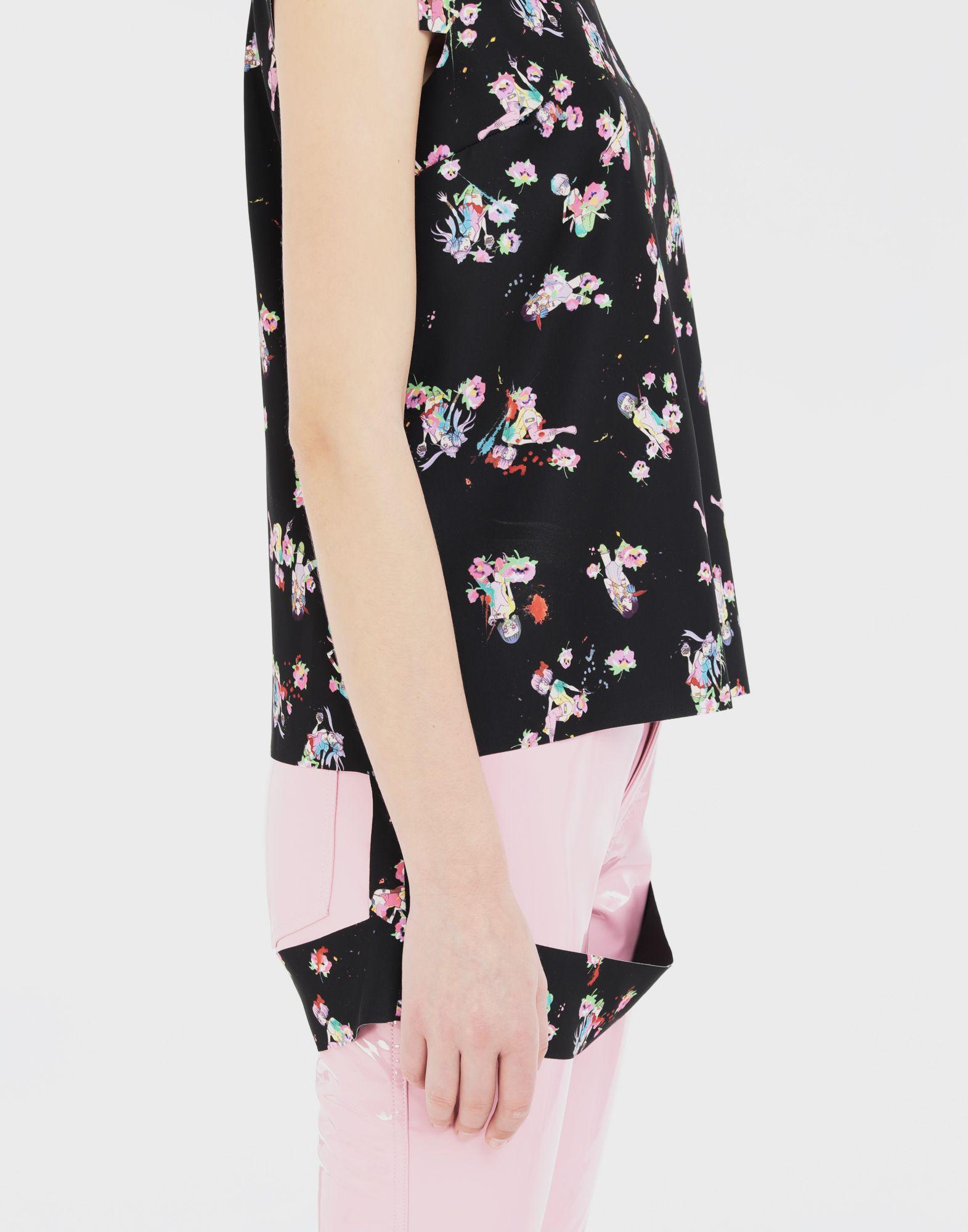 MAISON MARGIELA Kawaii-print décortiqué shirt Top Woman b