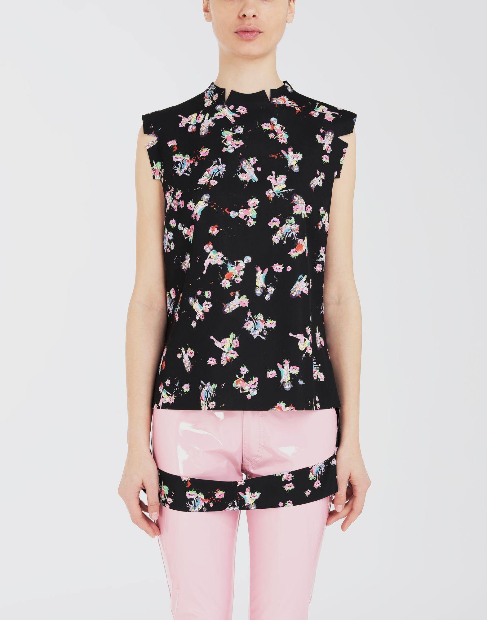 MAISON MARGIELA Kawaii-print décortiqué shirt Top Woman r