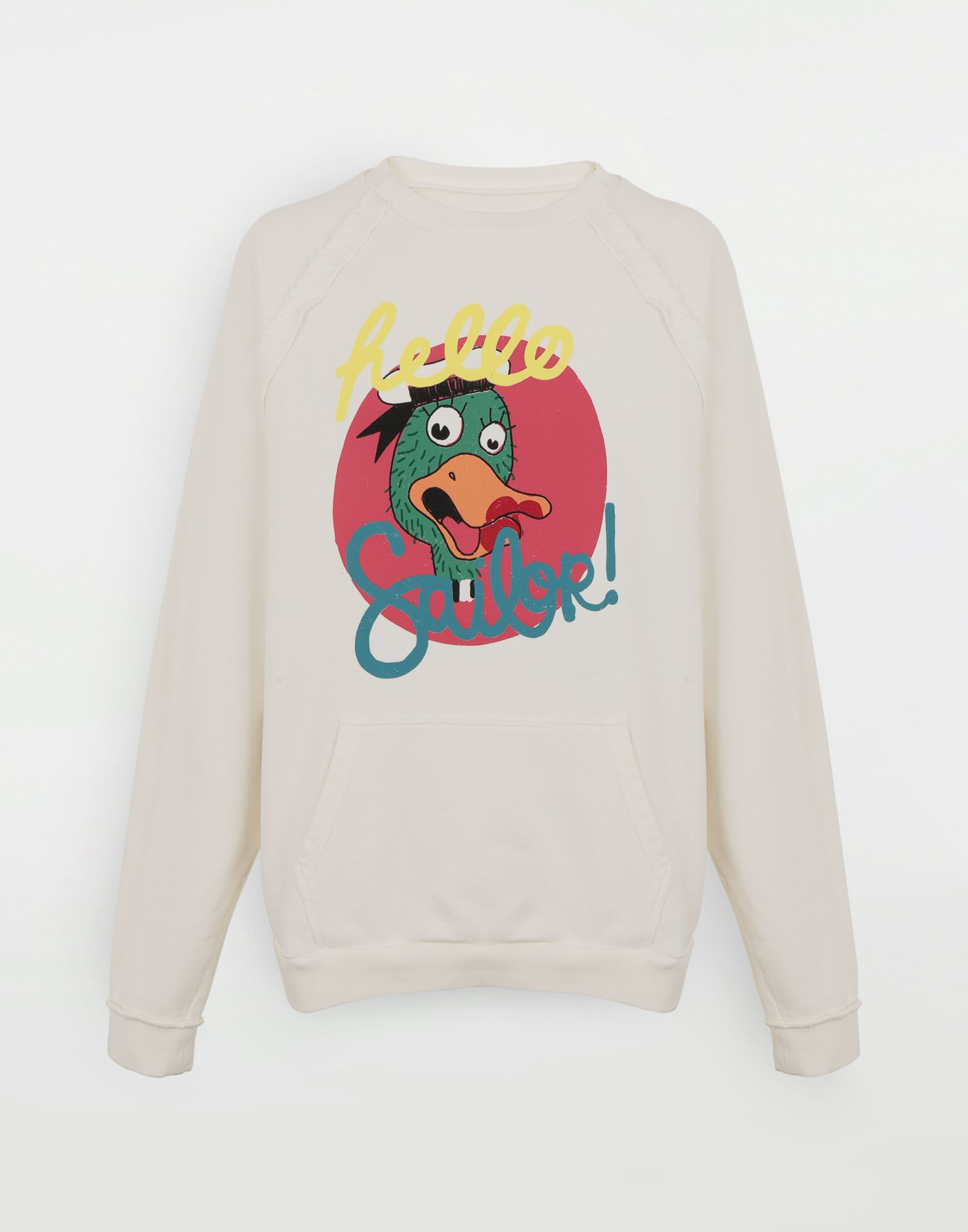 MAISON MARGIELA Sweat-shirt en jersey avec imprimé Sailor Sweatshirt Homme f
