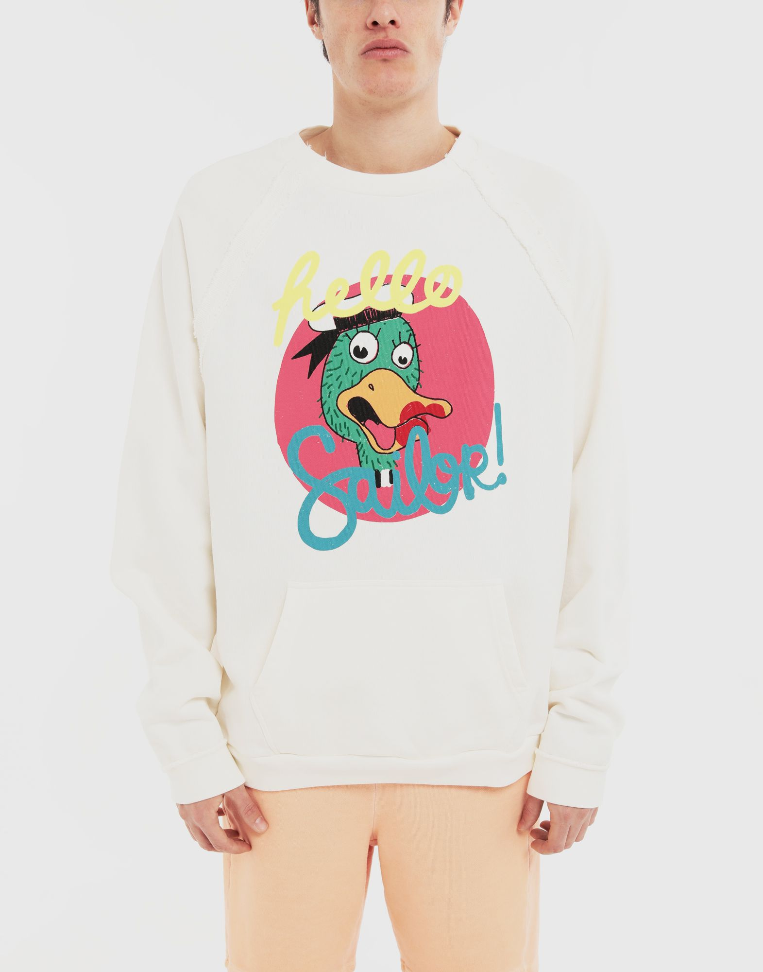 MAISON MARGIELA Sweat-shirt en jersey avec imprimé Sailor Sweatshirt Homme r