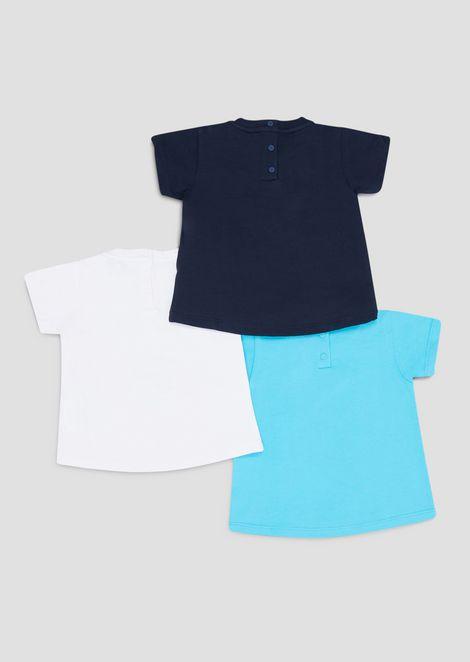 Набор из трех футболок из мягкого джерси слетними принтами