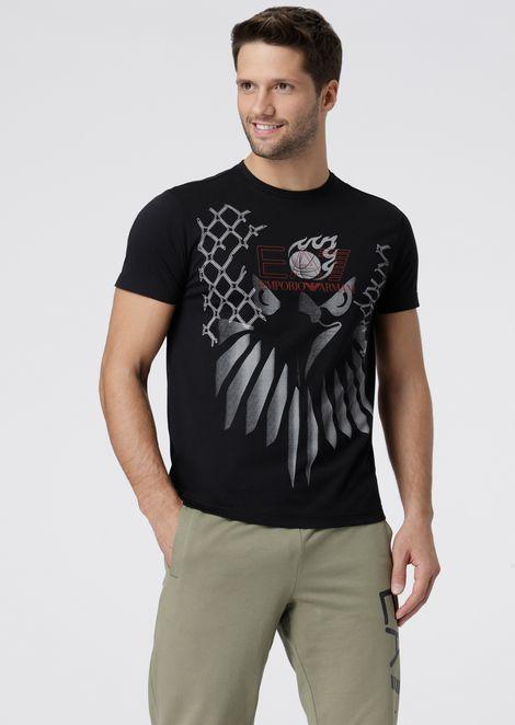 Pure cotton Train Graphic Series T-shirt