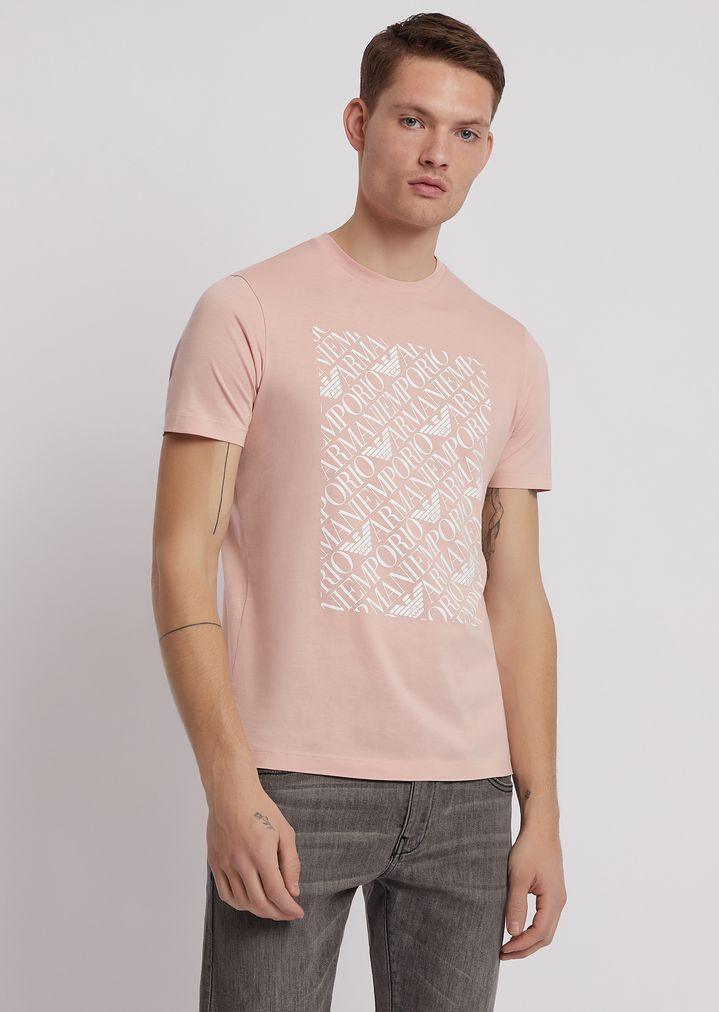 82221257ff Pima cotton jersey T-shirt with logo print