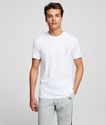 KARL LAGERFELD KARL IKONIK SMALL OUTLINE T-SHIRT