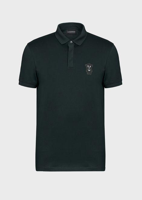 Polo shirt with Manga Bear patch