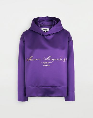 MM6 MAISON MARGIELA Logo-embellished hoodie Top [*** pickupInStoreShipping_info ***] f