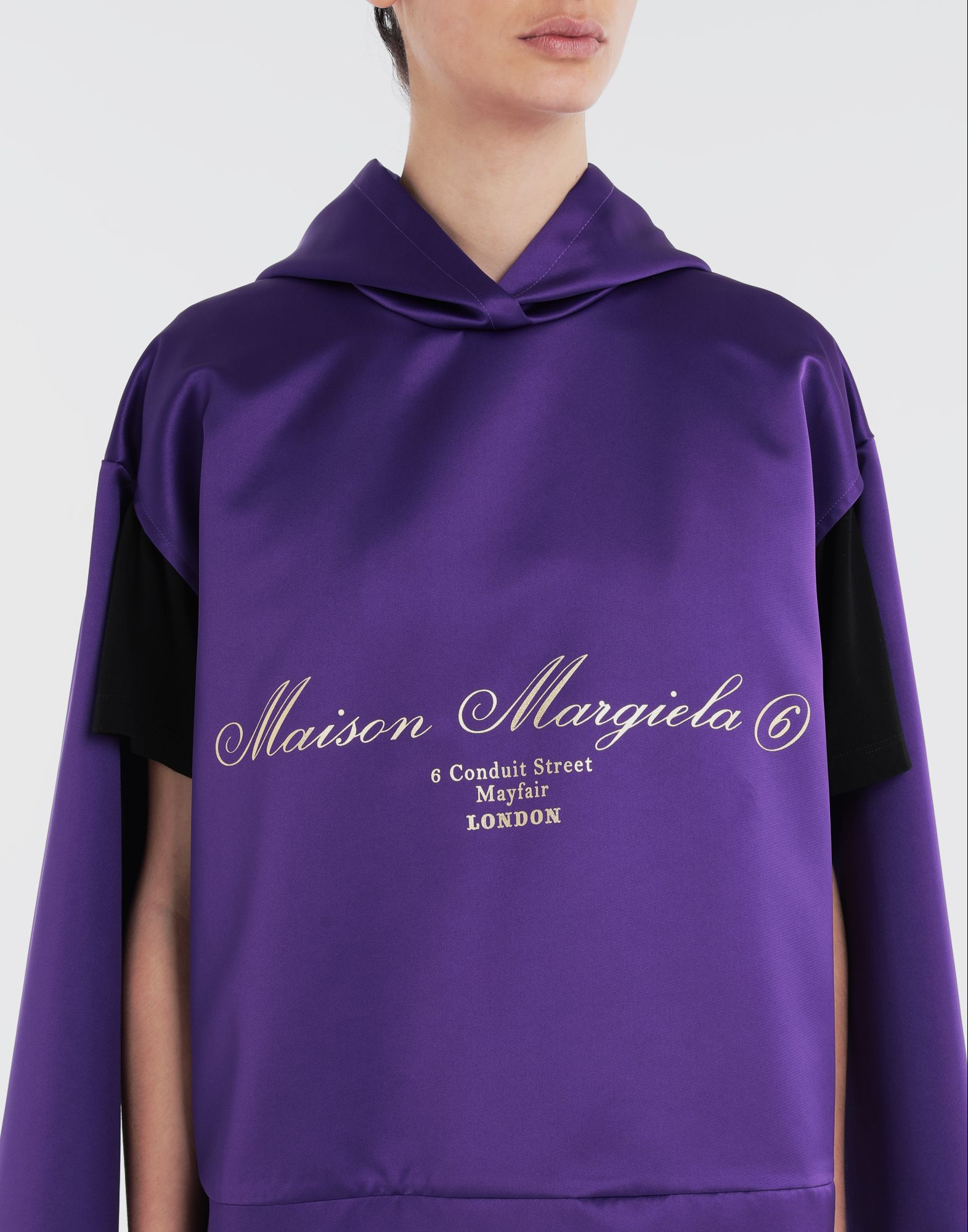 MM6 MAISON MARGIELA Logo-embellished hoodie Top Woman a