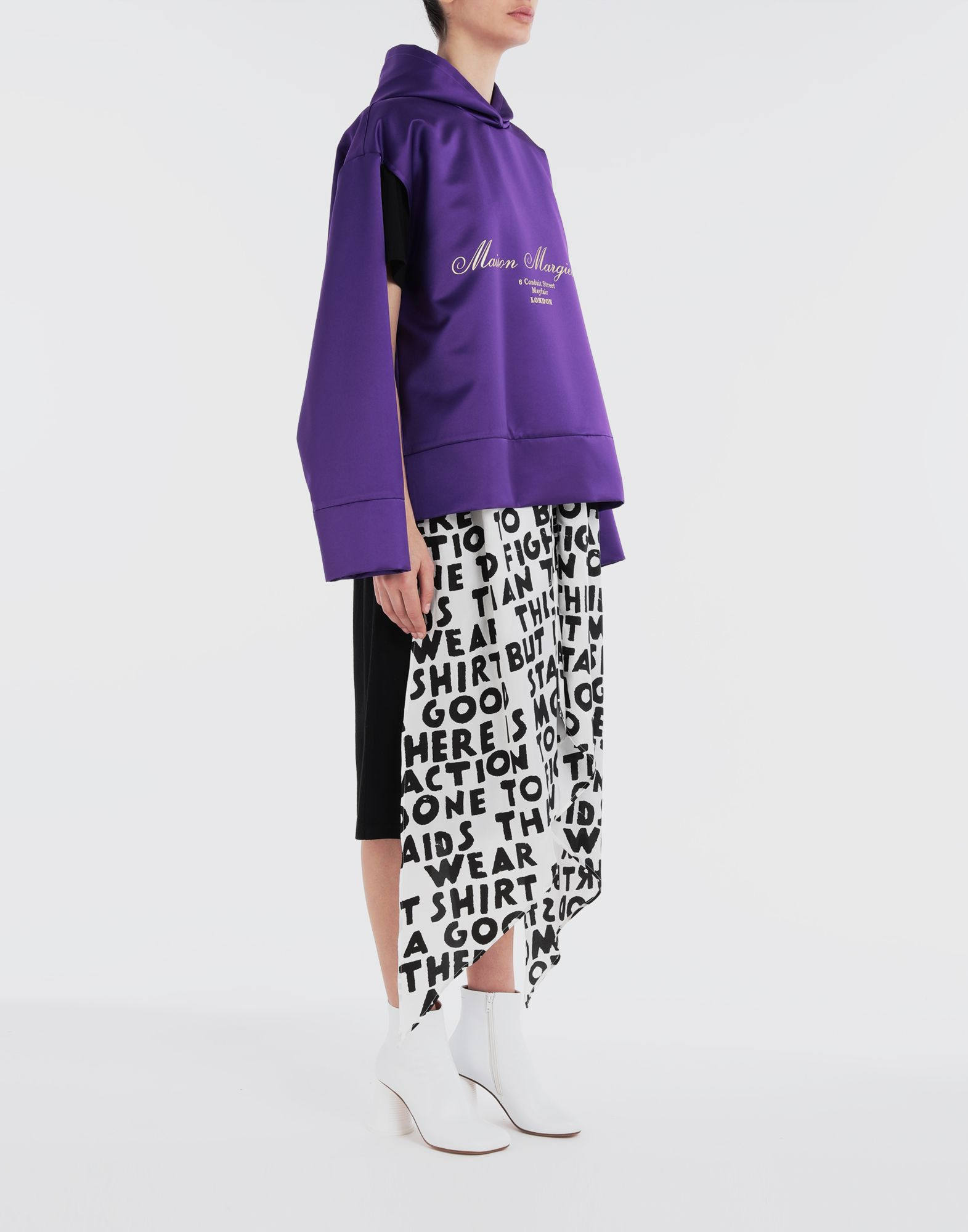 MM6 MAISON MARGIELA Logo-embellished hoodie Top Woman d