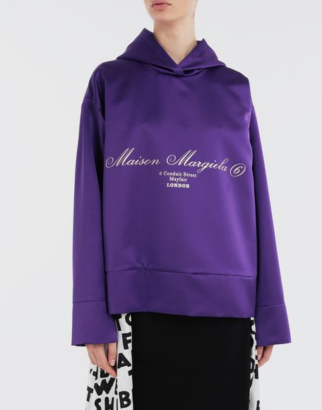 MM6 MAISON MARGIELA Logo-embellished hoodie Top Woman r