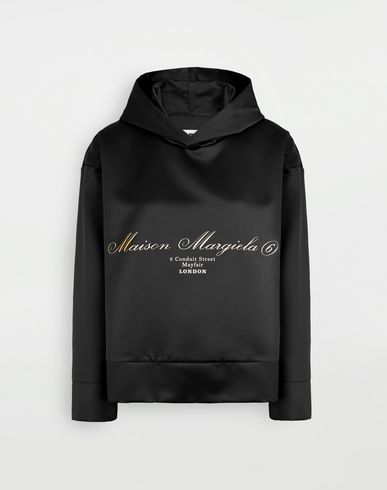 MM6 MAISON MARGIELA Logo-embellished hoodie Top Woman f