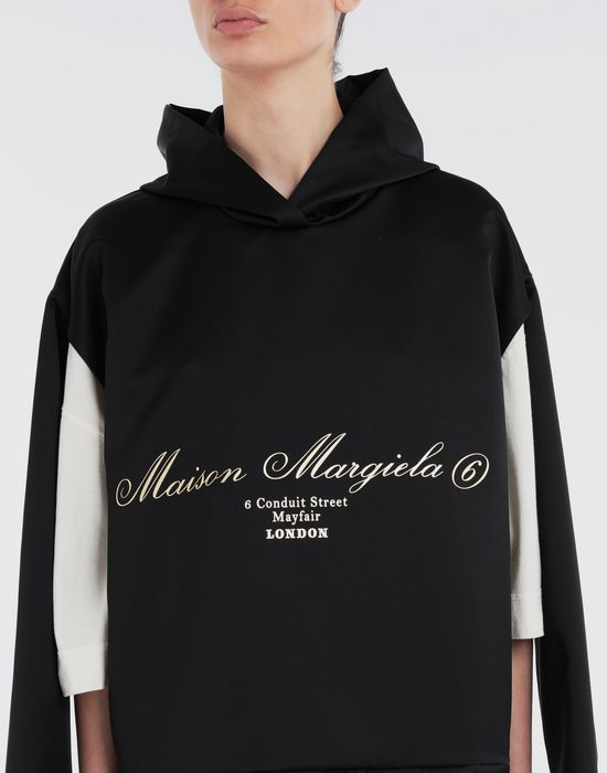 MM6 MAISON MARGIELA Logo-embellished hoodie Top [*** pickupInStoreShipping_info ***] a