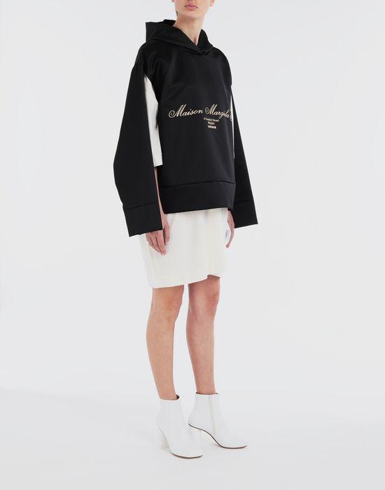 MM6 MAISON MARGIELA Logo-embellished hoodie Top [*** pickupInStoreShipping_info ***] d