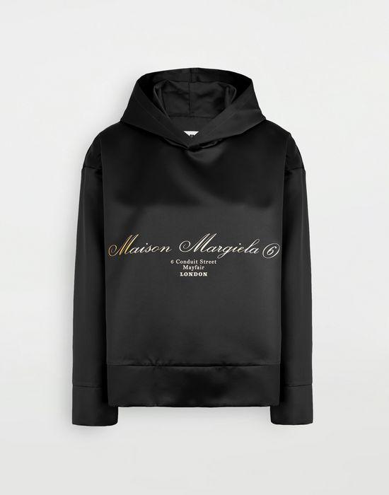 MM6 MAISON MARGIELA Logo-embellished hoodie Top [*** pickupInStoreShipping_info ***] f