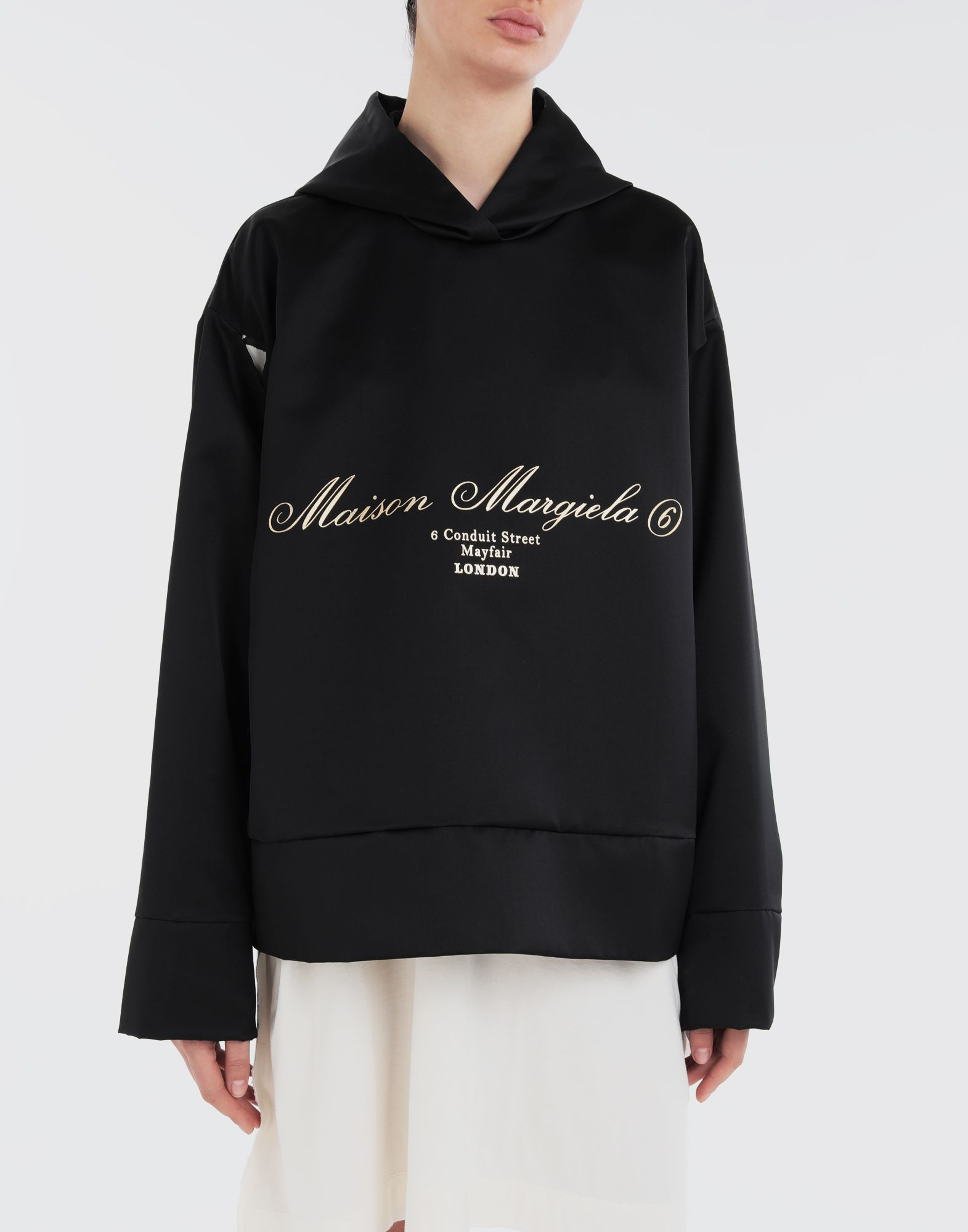MM6 MAISON MARGIELA Logo-embellished hoodie Top Woman r