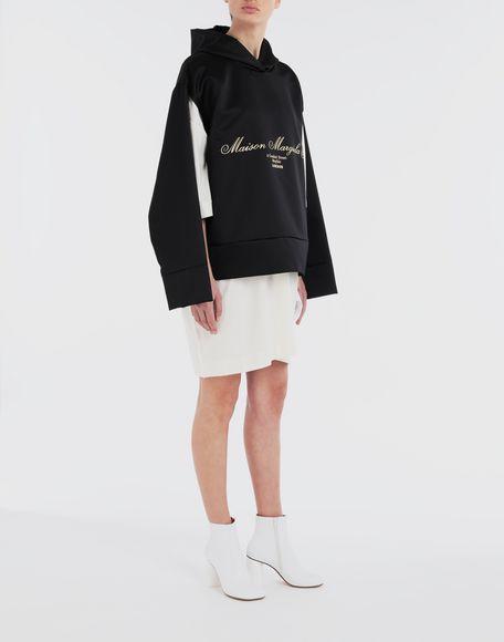 MM6 MAISON MARGIELA Logo-embellished hoodie Top Woman d