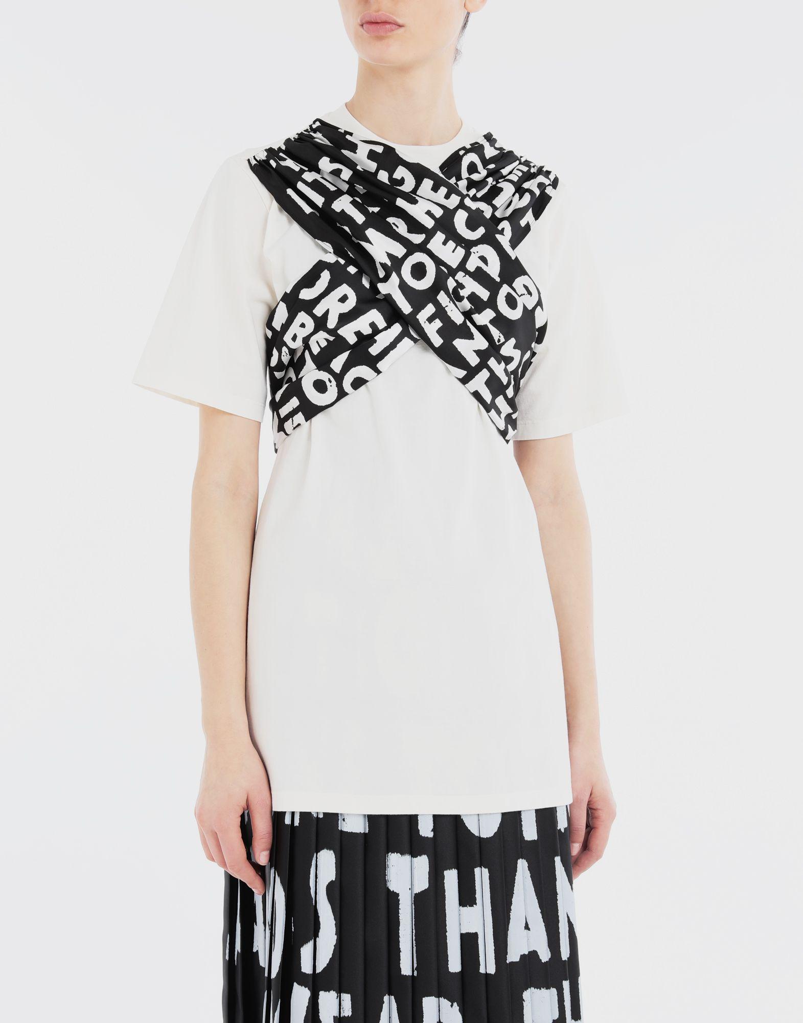 MM6 MAISON MARGIELA Scarf tie jersey T-shirt Short sleeve t-shirt Woman r
