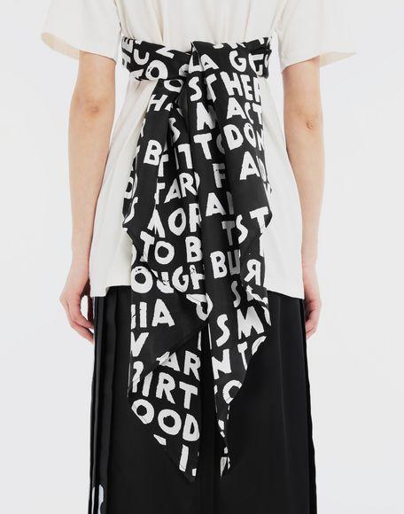 MM6 MAISON MARGIELA Scarf tie jersey T-shirt Short sleeve t-shirt Woman b
