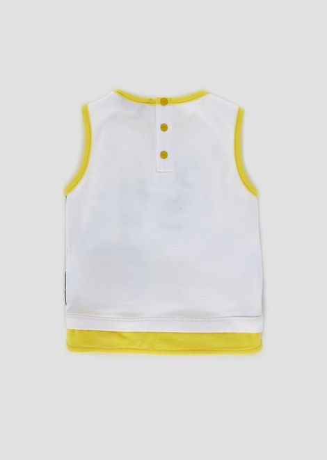 Jersey tank top with summery prints