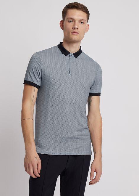 ジャージーポロシャツ オプティカルマイクロパターン