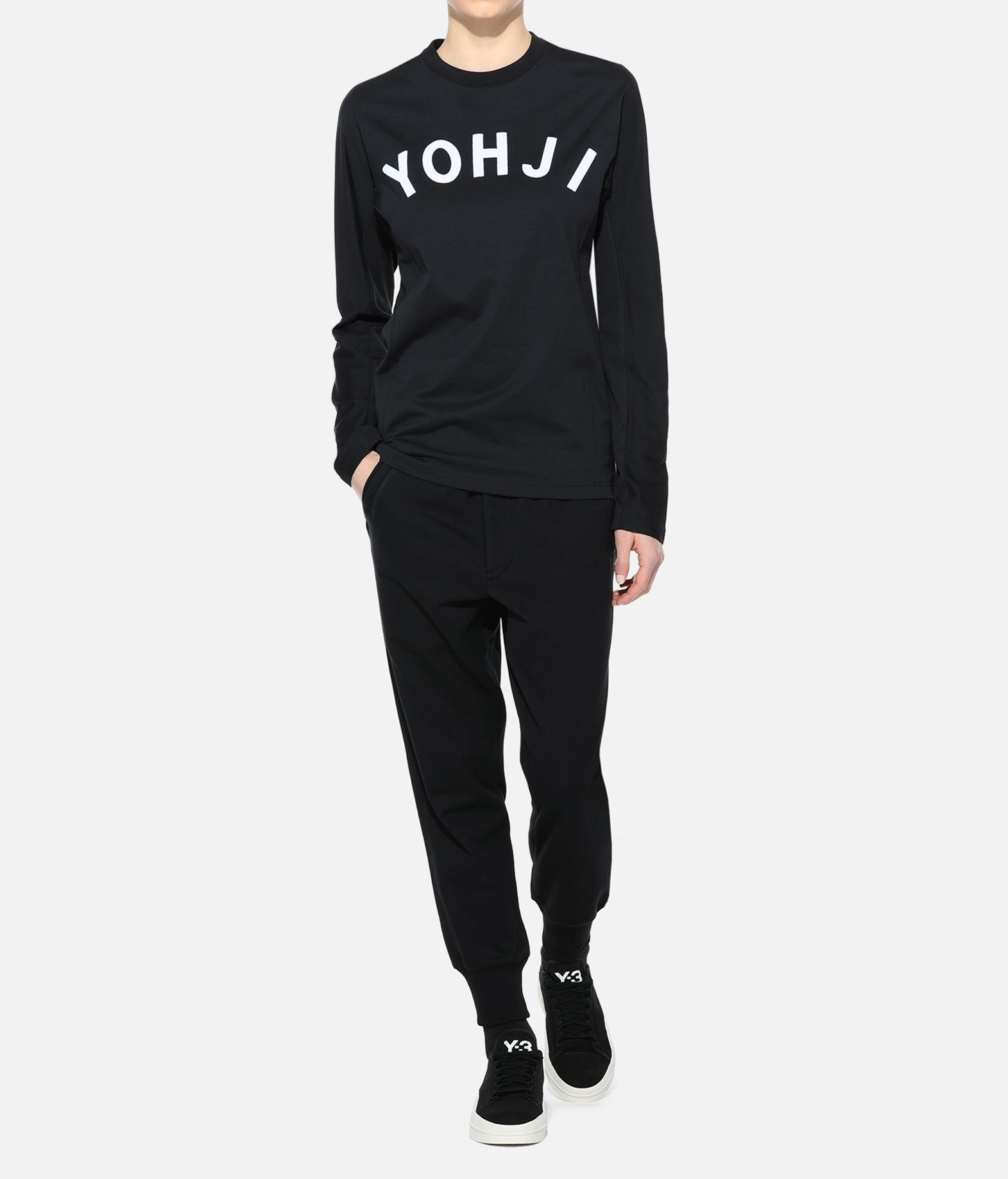 Y-3 Y-3 Yohji Letters Tee T-shirt maniche lunghe Donna a