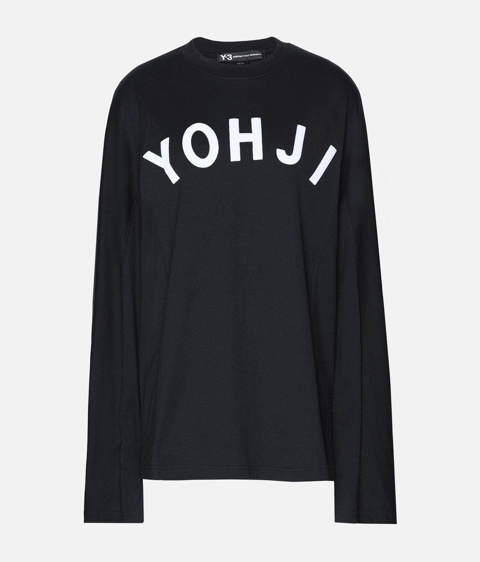 576f9da1430bd2 ... Y-3 Y-3 Yohji Letters Tee Long sleeve t-shirt Woman f ...