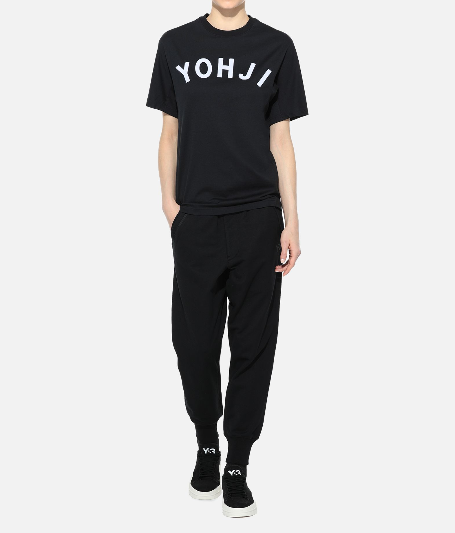 Y-3 Y-3 Yohji Letters Tee Short sleeve t-shirt Woman a