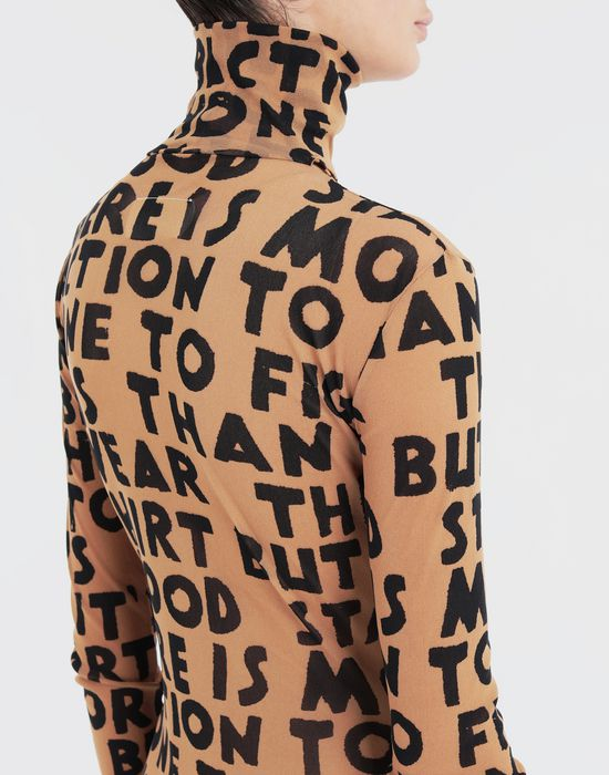 MM6 MAISON MARGIELA Charity AIDS-print bodysuit Body [*** pickupInStoreShipping_info ***] b