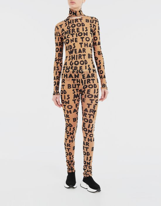 MM6 MAISON MARGIELA Charity AIDS-print bodysuit Body [*** pickupInStoreShipping_info ***] d