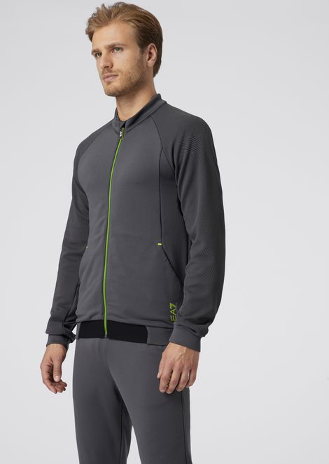 Sweatshirt in Ventus7 tech fabric with air-exchange system and reflective details