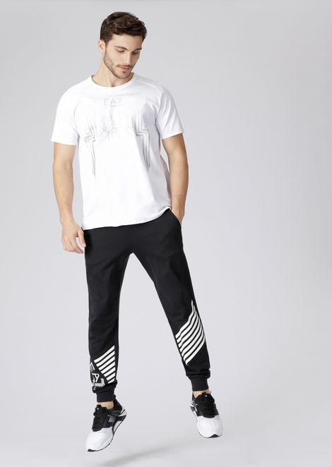 Train 7.0 T-shirt in mercerised cotton with reflective details