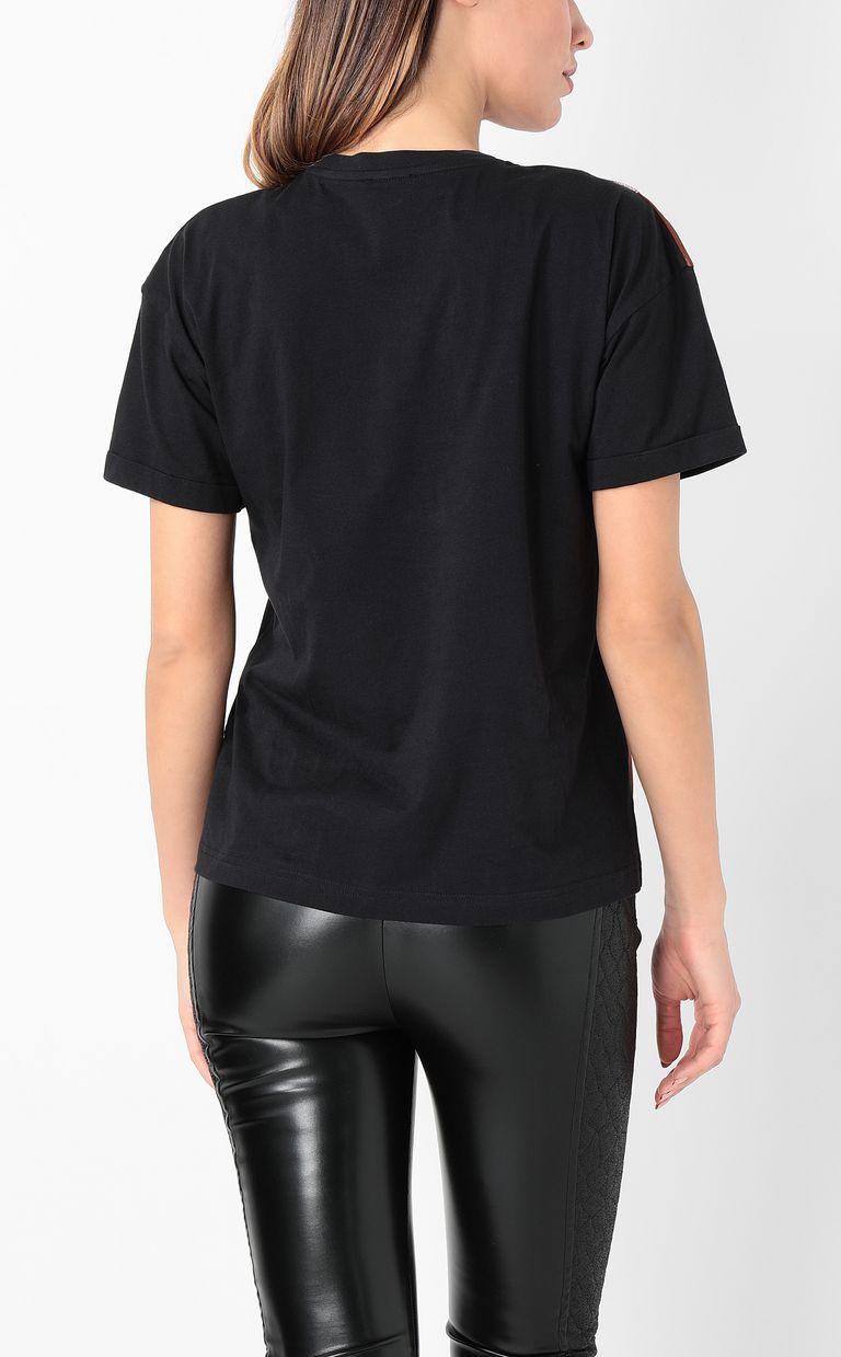 JUST CAVALLI T-shirt with zebra-stripe print Short sleeve t-shirt Woman a