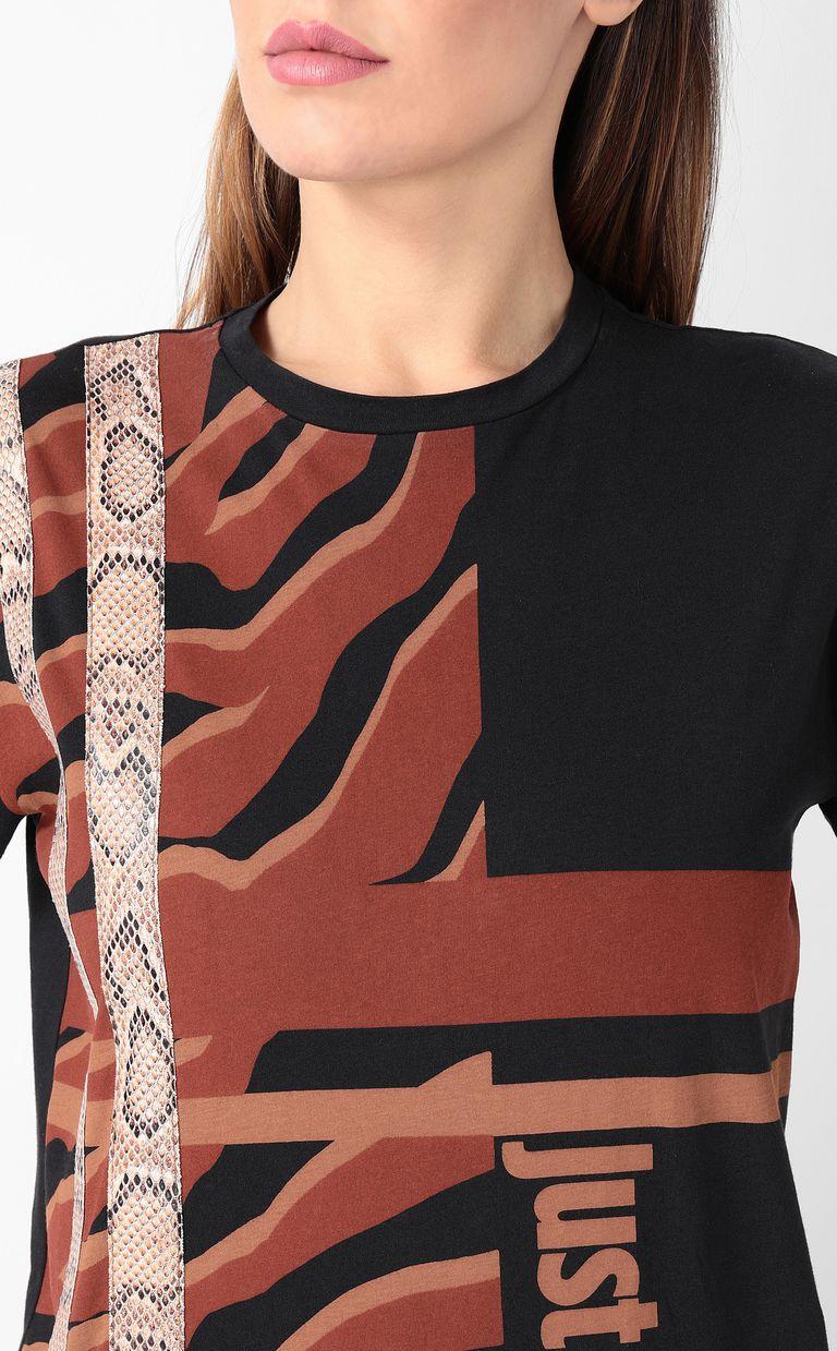 JUST CAVALLI T-shirt with zebra-stripe print Short sleeve t-shirt Woman e
