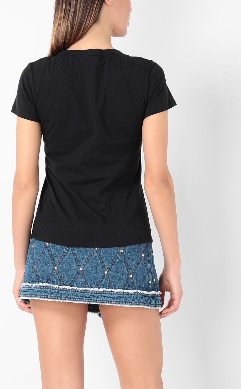 JUST CAVALLI Logoed t-shirt with studs Short sleeve t-shirt Woman a