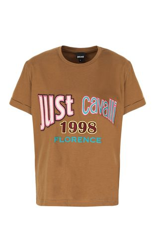JUST CAVALLI Short sleeve t-shirt Woman Logoed t-shirt f