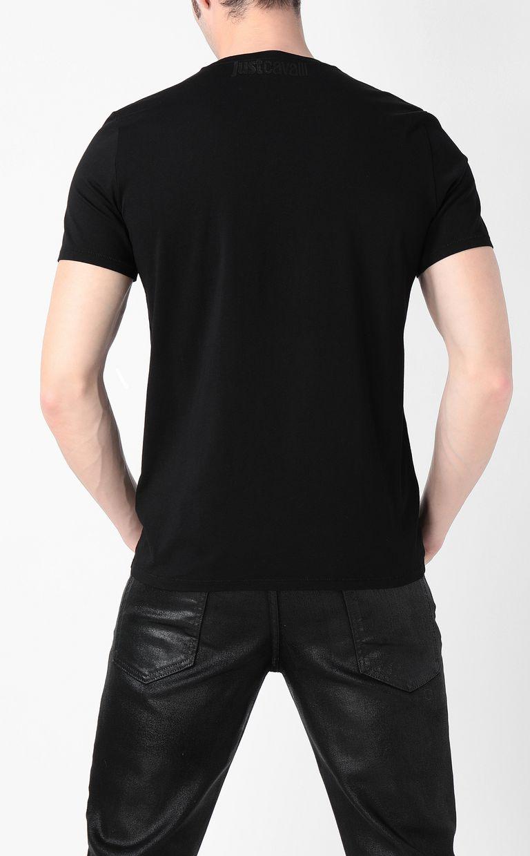 JUST CAVALLI T-shirt with skull Short sleeve t-shirt Man a