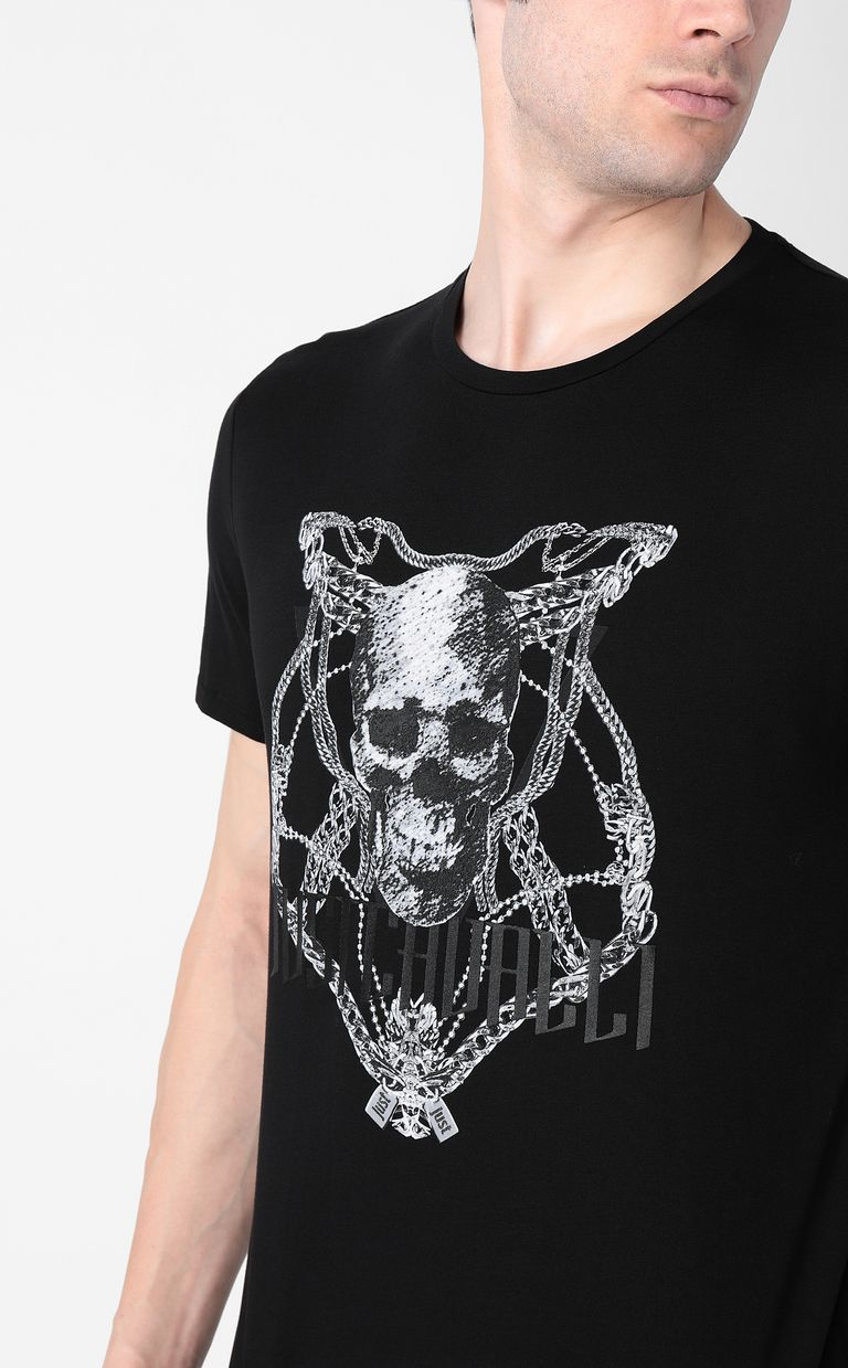 JUST CAVALLI Chain-skull t-shirt Short sleeve t-shirt Man e