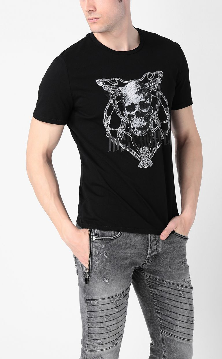 JUST CAVALLI Chain-skull t-shirt Short sleeve t-shirt Man r