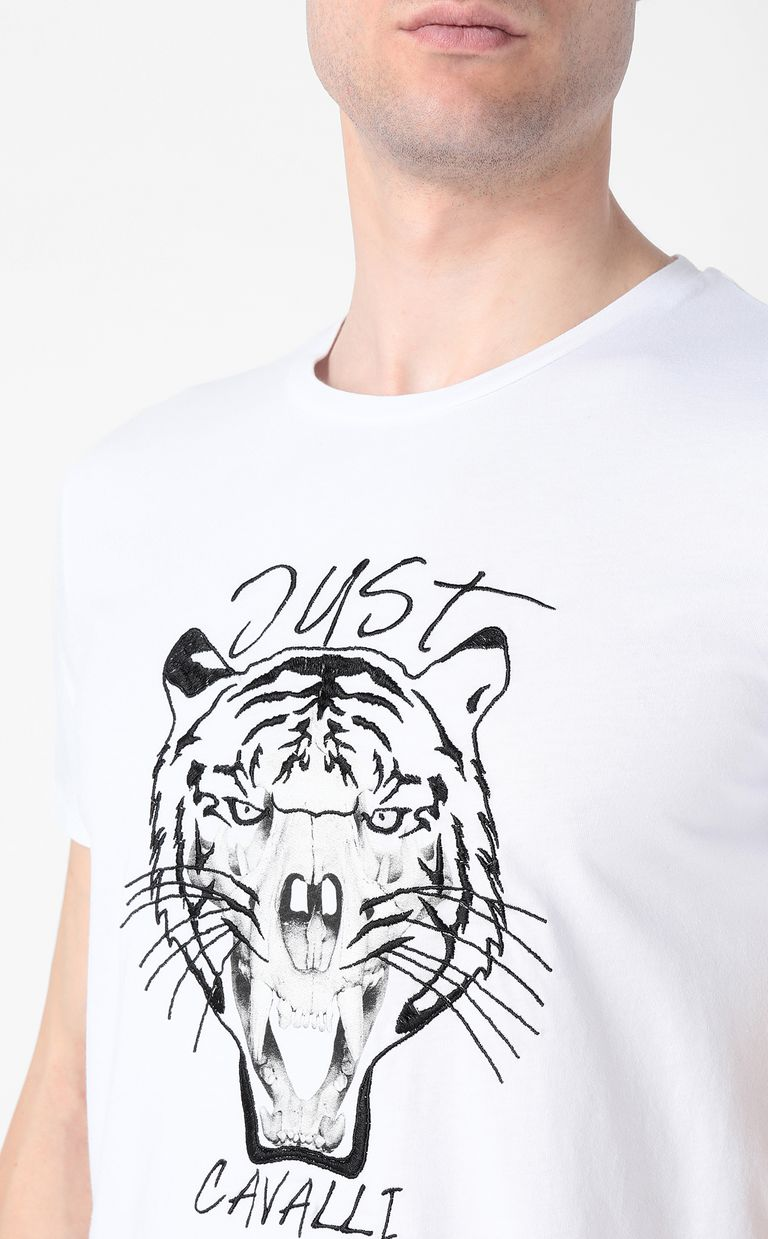 JUST CAVALLI Tiger over Skull t-shirt Short sleeve t-shirt Man e