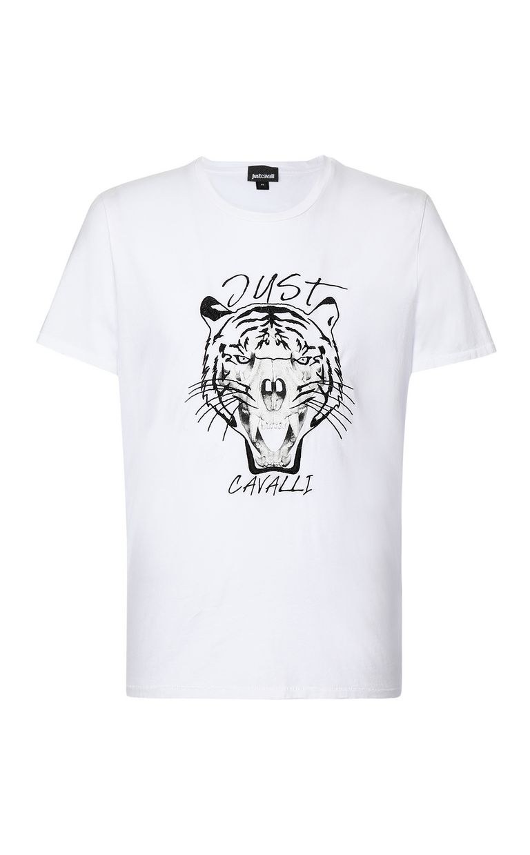 JUST CAVALLI Tiger over Skull t-shirt Short sleeve t-shirt Man f